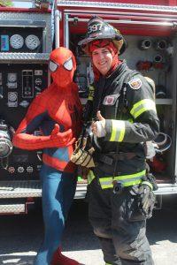 Eustis Buddy Break Spiderman with Firefighter