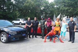 Eustis Buddy Break with law enforcement