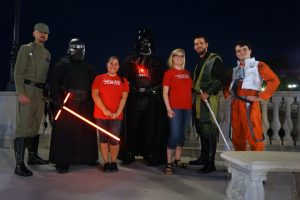 Cranes roost with Guardians of Justice - Star Wars Night